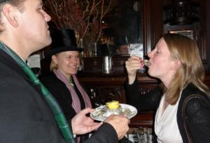 Ostron är alltid gott till porter!